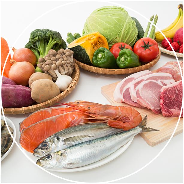鮮度・美味しさにこだわった野菜・魚・肉